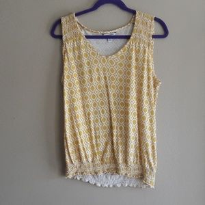 Banana Republic Sleeveless Yellow Top Size S